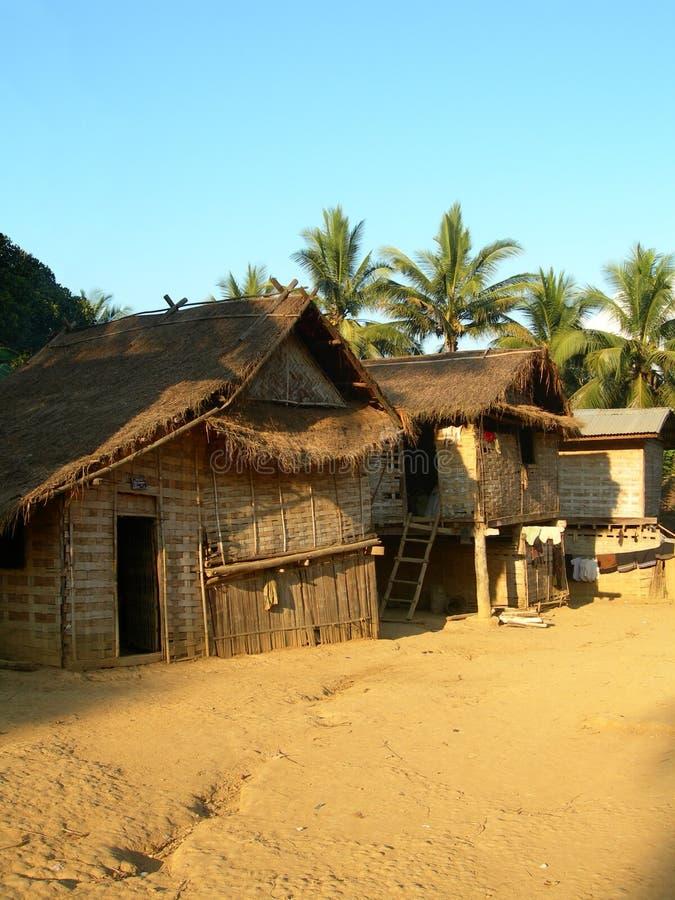 Villaggio di Khmu fotografie stock
