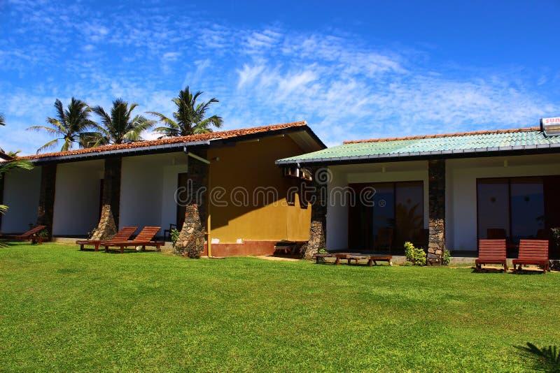 Villaggio di Koggala del club dei bungalow fotografia stock libera da diritti