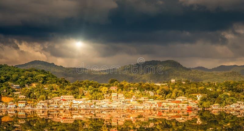 Villaggio di Labuhan Bajo immagini stock
