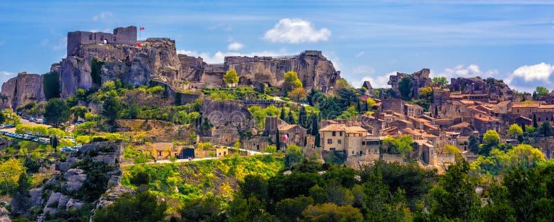 Villaggio di Les Baux-de-Provenza, Provenza, Francia fotografia stock libera da diritti