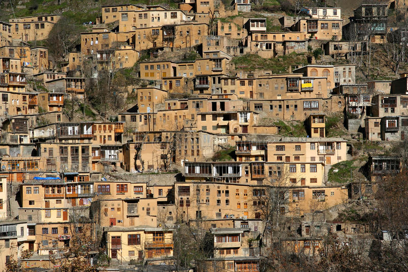 Villaggio di Masuleh immagine stock