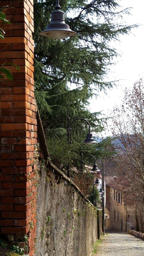 Villaggio di Medioeval Castiglione Olona Italia fotografia stock
