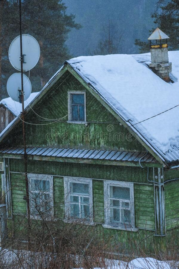 Villaggio di Medvezhyegorsk fotografia stock