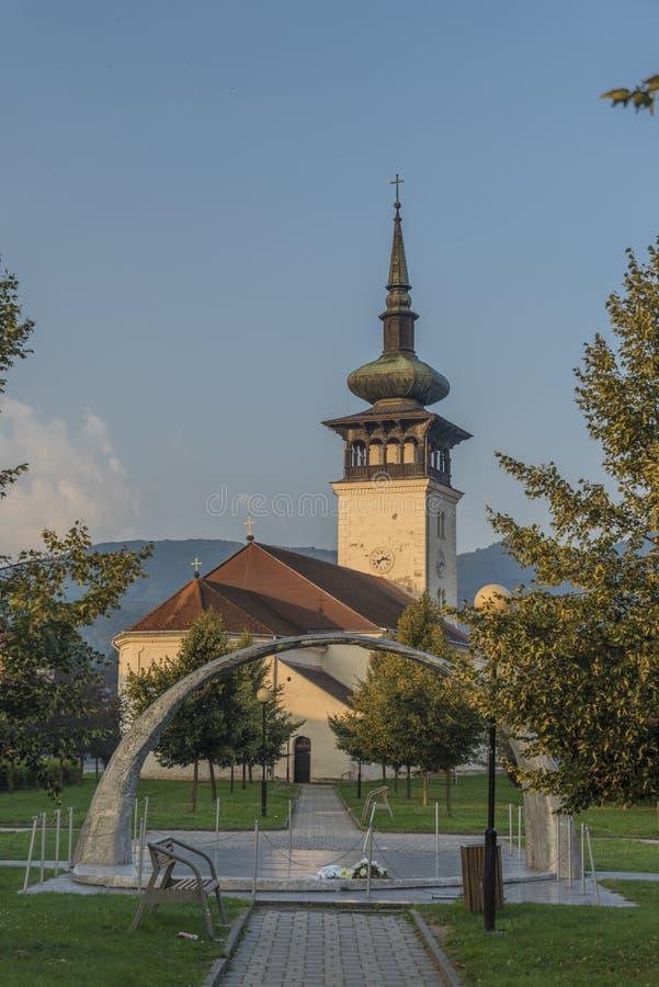 Villaggio di Medzev nell'est della Slovacchia immagini stock