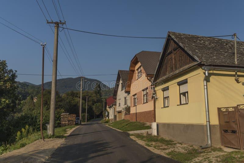 Villaggio di Medzev nell'est della Slovacchia fotografia stock libera da diritti