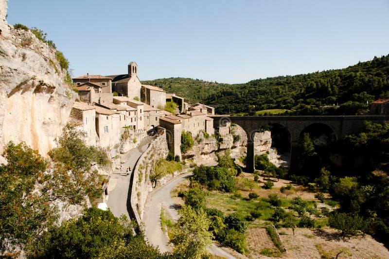 Villaggio di Minerve - Francia immagini stock libere da diritti