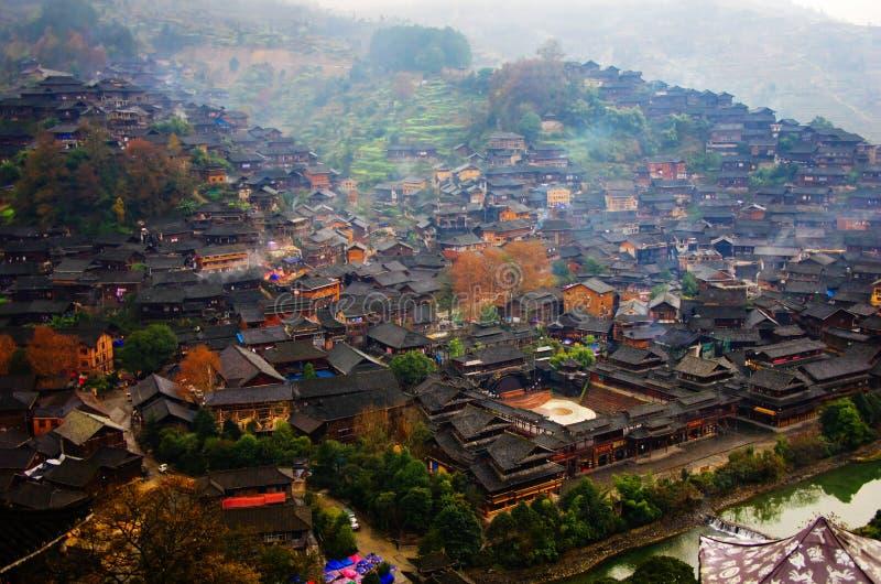Villaggio di minoranze etniche MIAO fotografie stock libere da diritti