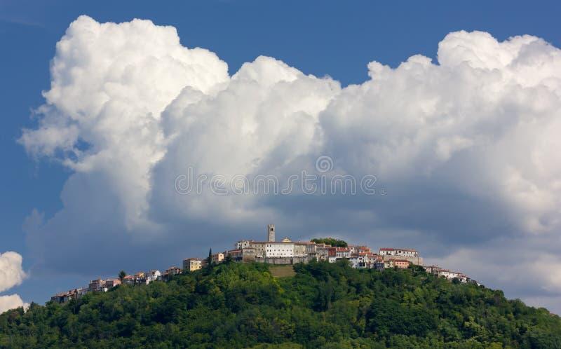 Villaggio di Motovun in Istria immagine stock libera da diritti