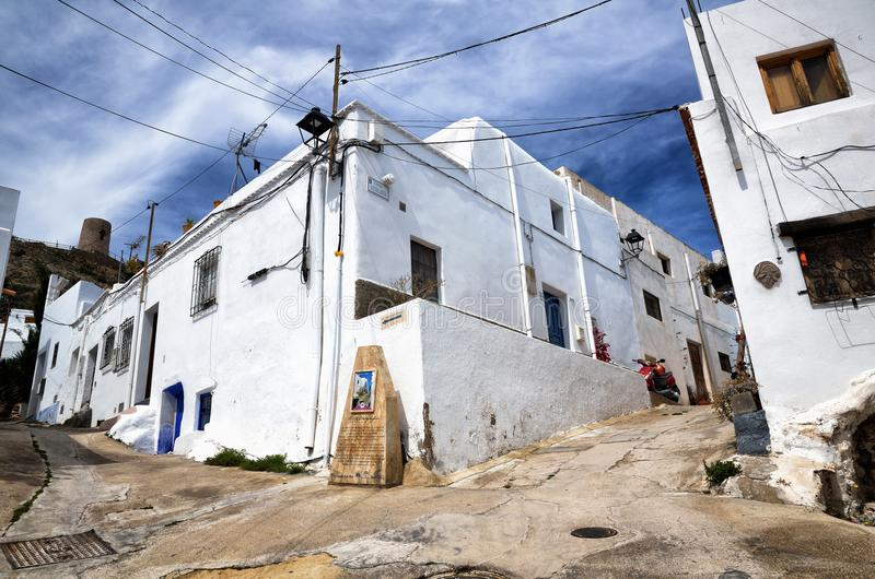 Villaggio di Nijar, provincia di Almeria, Andalusia, Spagna fotografie stock libere da diritti