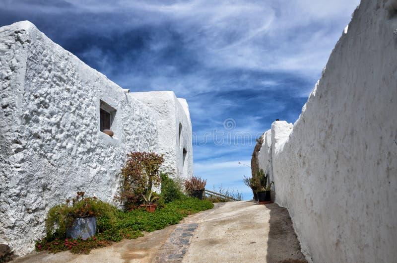 Villaggio di Nijar, provincia di Almeria, Andalusia, Spagna immagini stock libere da diritti