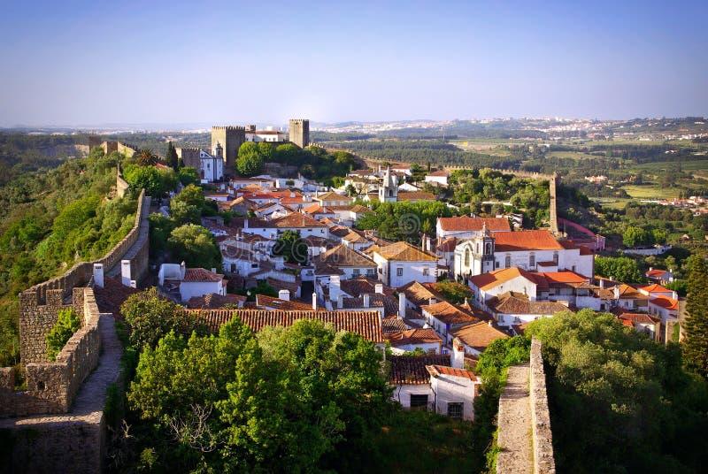 Villaggio di Obidos fotografie stock