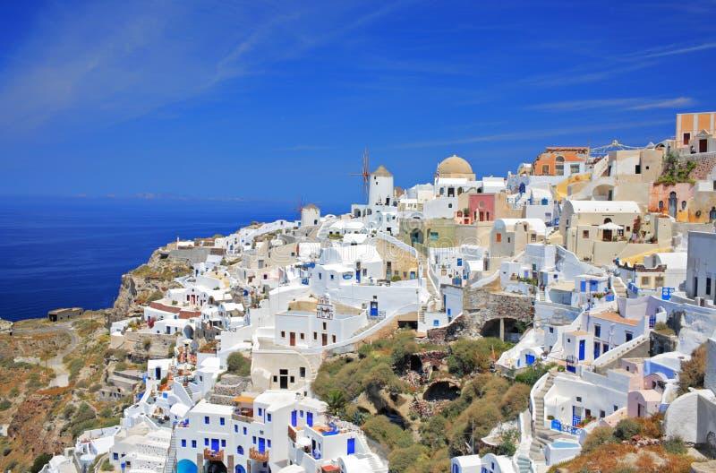 Villaggio di Oia sull'isola di Santorini fotografie stock