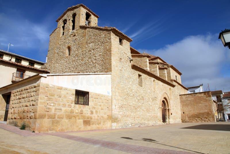 Villaggio di Olocau del Rey, Maestrazgo, Teruel, l'Aragona, Spagna fotografia stock