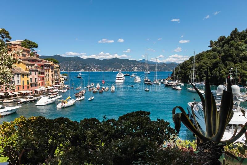 Villaggio di Portofino, costa ligura, Italia fotografia stock