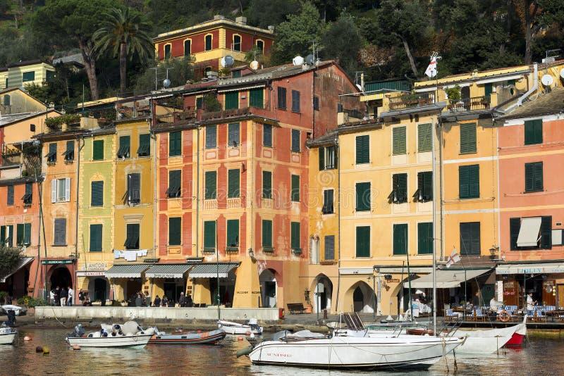 Villaggio di Portofino - Genova Liguria Italia immagini stock