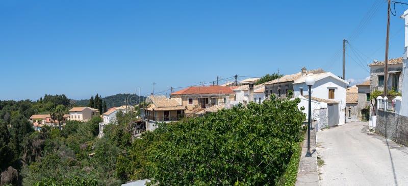 Villaggio di Rachtades a Corfù immagine stock libera da diritti