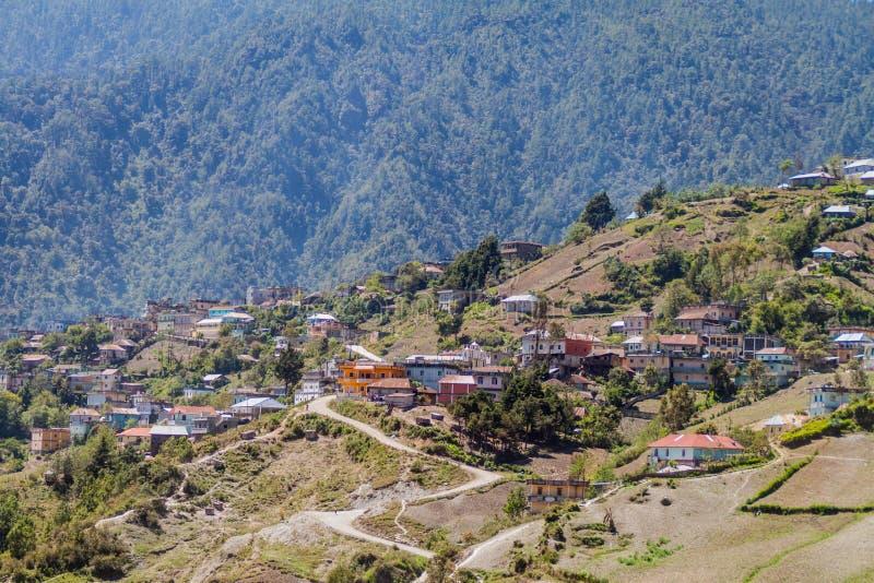 Villaggio di San Mateo Ixtatan, Guatema fotografie stock