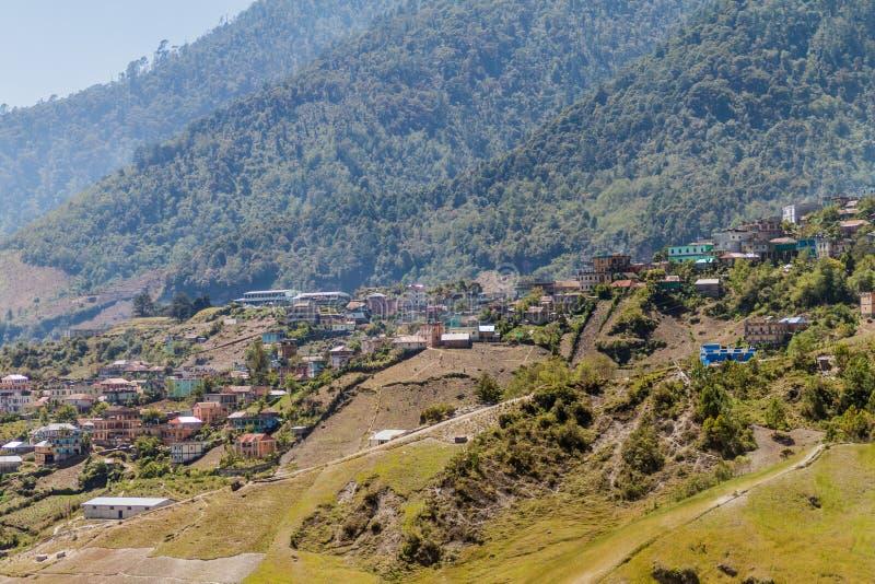 Villaggio di San Mateo Ixtatan, Guatema fotografia stock libera da diritti
