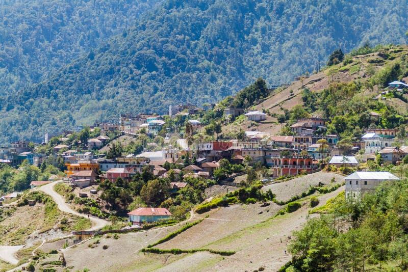Villaggio di San Mateo Ixtatan, Guatema fotografia stock