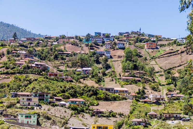 Villaggio di San Mateo Ixtatan, Guatema fotografie stock libere da diritti