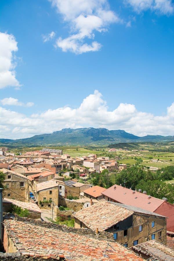 Villaggio di San Vicente de la sonsierra, spagna fotografia stock libera da diritti