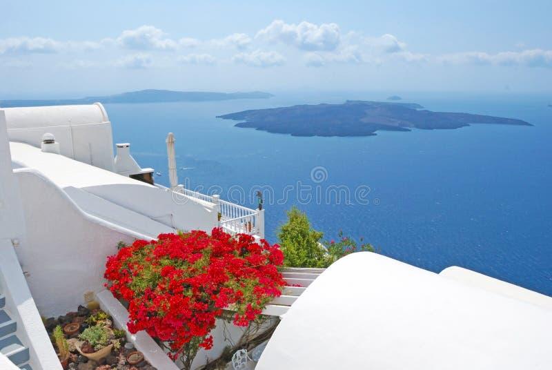 Villaggio di Santorini immagini stock