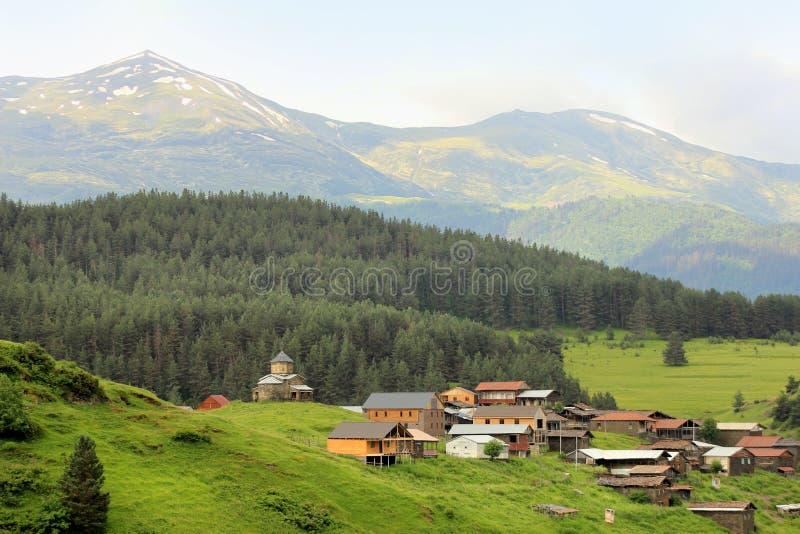 Villaggio di Shenako, regione di Tusheti (Georgia) immagini stock