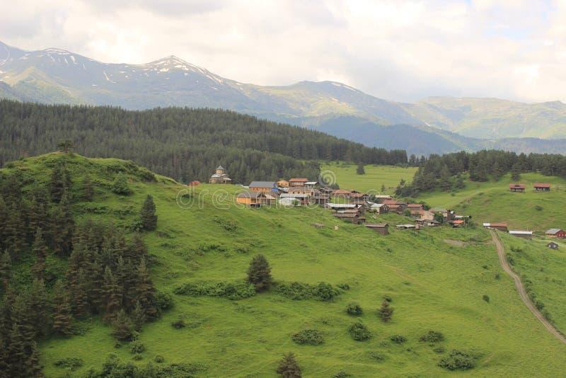 Villaggio di Shenako, regione di Tusheti (Georgia) fotografie stock libere da diritti