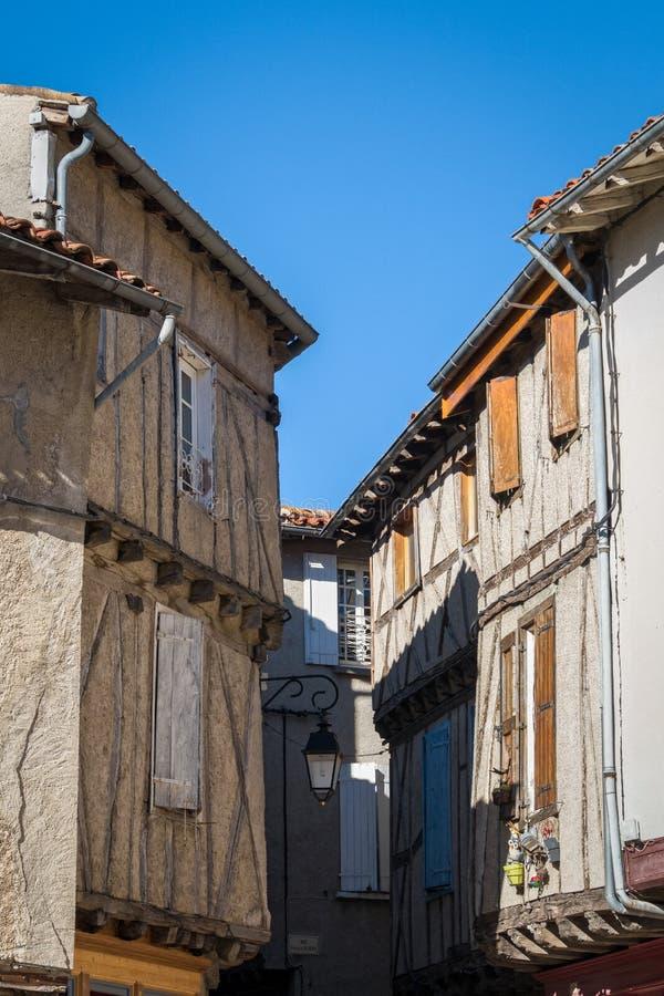 Villaggio di Soreze, Francia fotografia stock