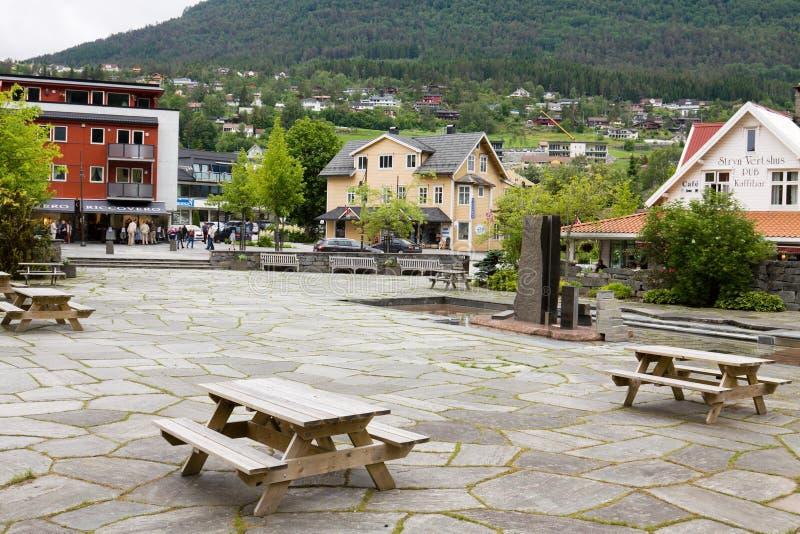 Villaggio di Stryn in Norvegia fotografia stock