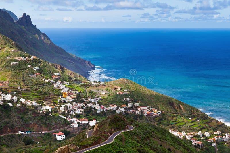 Villaggio di Taganana, Tenerife immagini stock