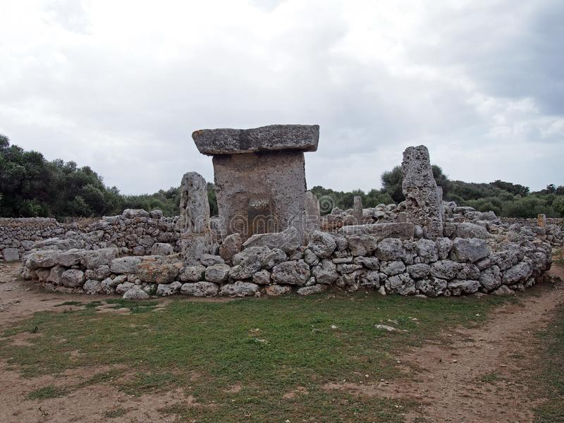 Villaggio di Talaiotic delle Isole Baleari di Trepuco Minorca immagini stock libere da diritti