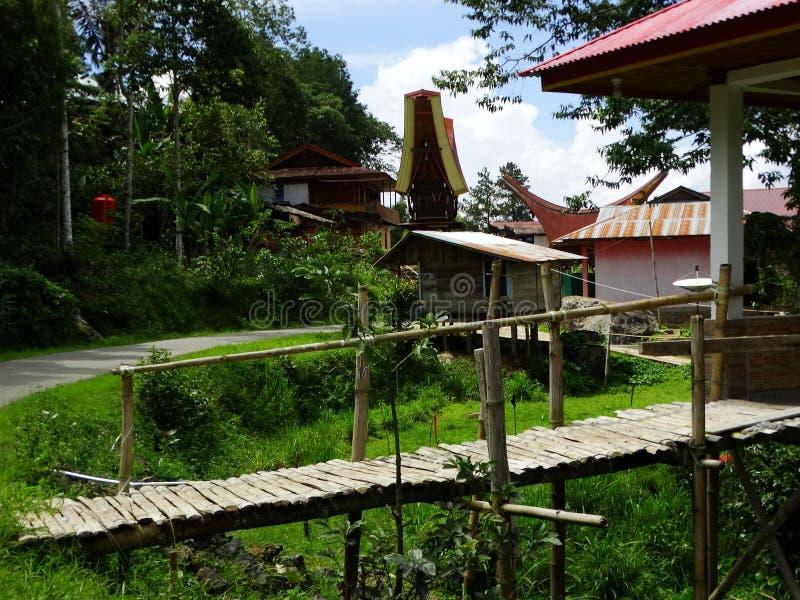 Villaggio di Toraja, Celebes, Sulawesi, Indonesia immagine stock libera da diritti