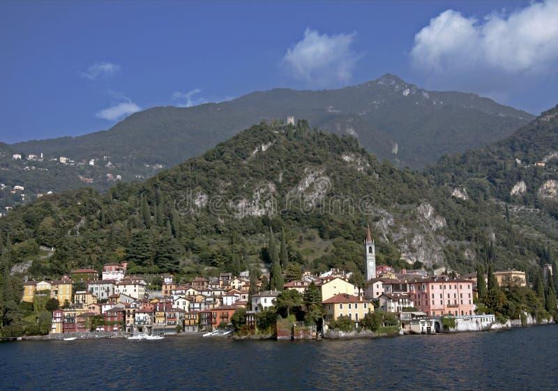 Villaggio di Varenna, lago Como, Italia fotografie stock