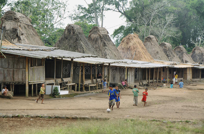 Villaggio di Wogo, isola del Flores fotografia stock libera da diritti
