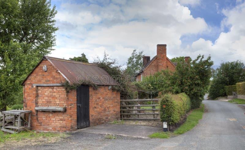 Villaggio di Worcestershire, Inghilterra fotografie stock