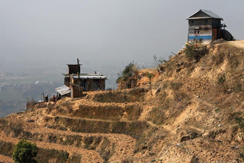 Villaggio e colture del Nepali fotografia stock libera da diritti