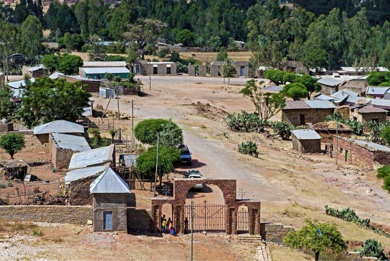 Villaggio etiopico, Tigray, Etiopia fotografia stock libera da diritti