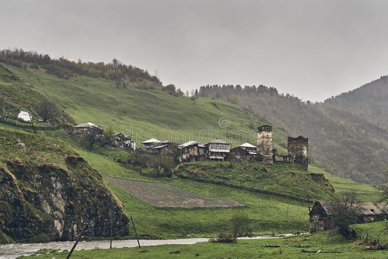 Villaggio georgiano antico nazionale immagini stock libere da diritti