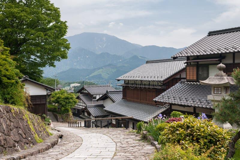 Villaggio giapponese tradizionale fotografia stock libera da diritti