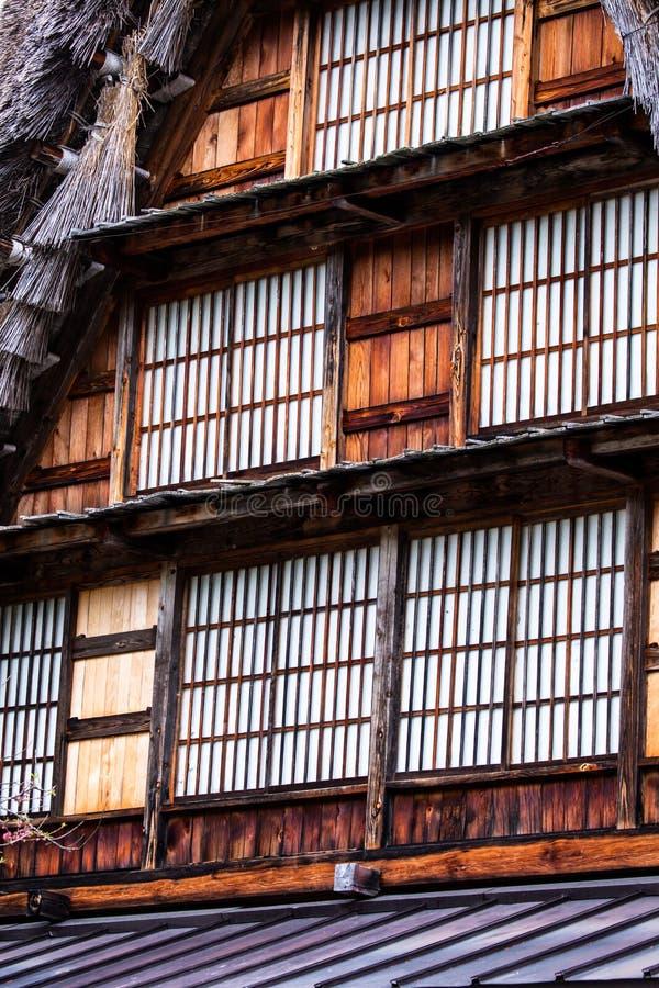 Villaggio giapponese tradizionale e storico Ogimachi - Shirakawa-va, il Giappone immagini stock libere da diritti