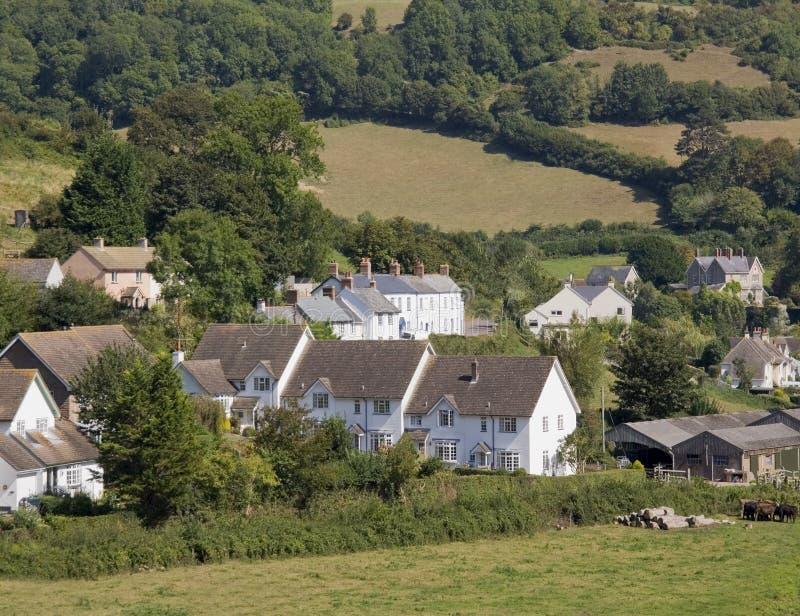 Villaggio giurassico del branscombe del litorale dell'Inghilterra Devon fotografie stock libere da diritti