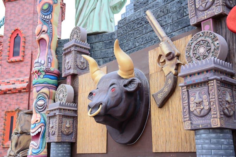 Villaggio globale Dubai UAE della decorazione immagine stock libera da diritti