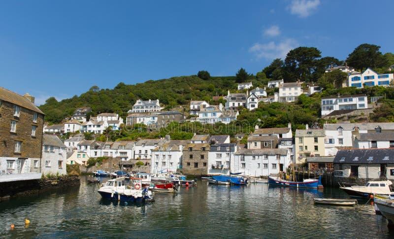 Villaggio inglese della costa di PolperroCornwall Inghilterra Regno Unito fotografia stock libera da diritti
