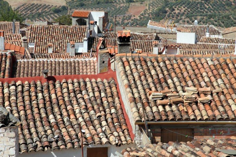 Villaggio Jaen Spagna di Hornos de Segura fotografia stock