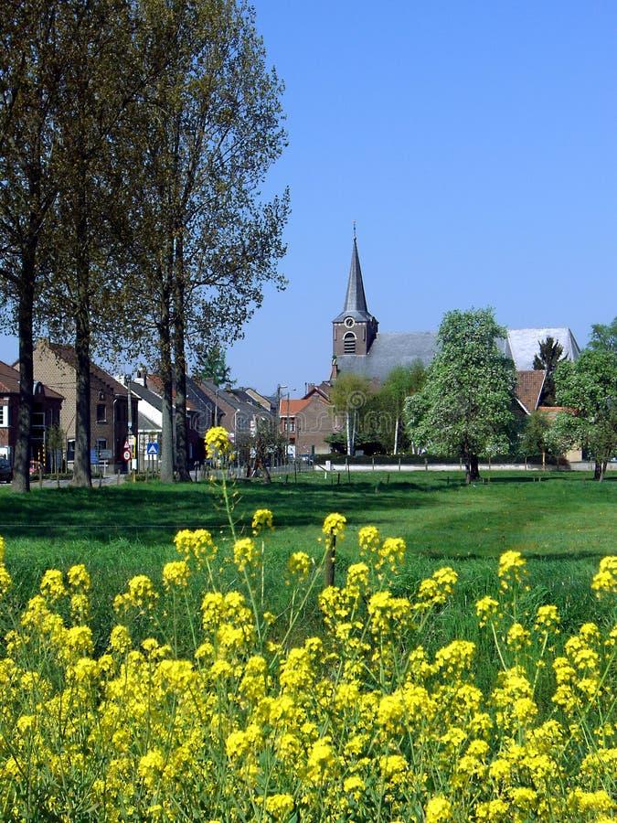 Villaggio in Limburgo, Belgio fotografia stock libera da diritti