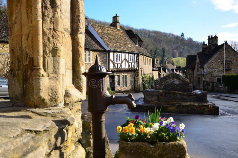 Villaggio medievale fotografie stock