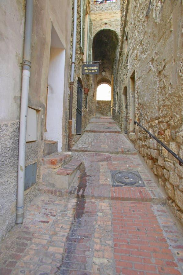 Villaggio medievale di Haut de Cagnes, Francia immagine stock