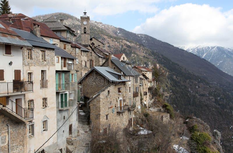 Villaggio medievale di Roubion fotografia stock