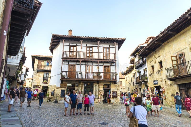 Villaggio medievale di Santillana Del Mar in Spagna immagine stock libera da diritti